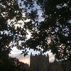 late afternoon sky at Rhodes College, Memphis.