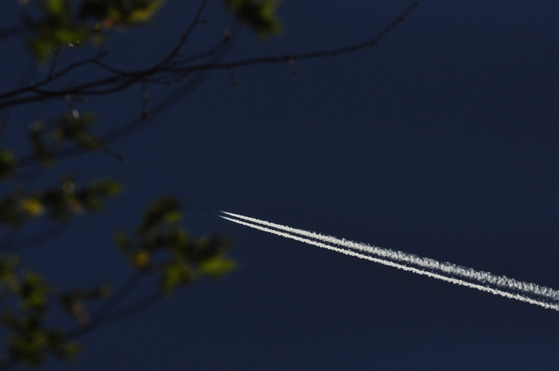 Contrails over Fayette County, TN