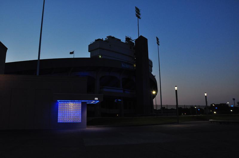 Memphis' Liberty Bowl Stadium at sunrise