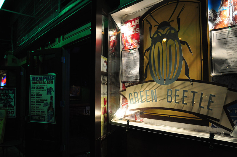 Downtown Memphis- The Green Beetle had the reputation as a tough bar for a long time. Today it is a respectable restraunt