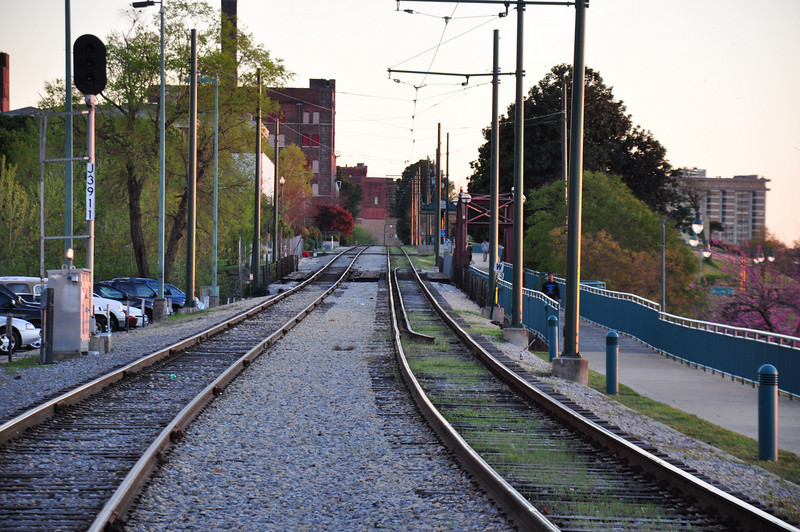 Railroad tracks, Memphis ( south )