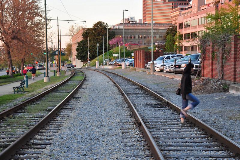 Railroad tracks, Memphis ( north)