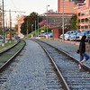 Railroad tracks, Memphis ( north)