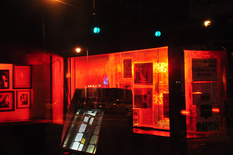 Through the window of Ernestine and Hazels Bar. Memphis TN