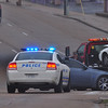 Memphis police investigate an accident at Lamar and Park