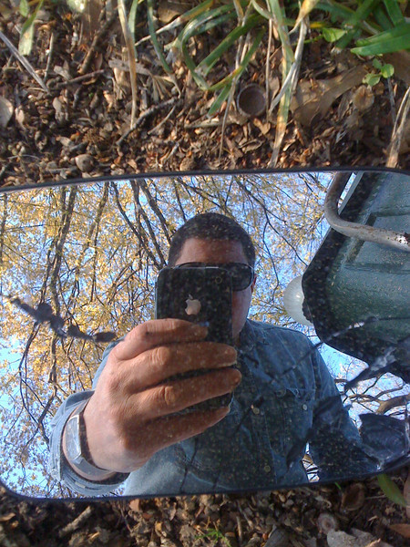 a broken mirror and my I phone camera