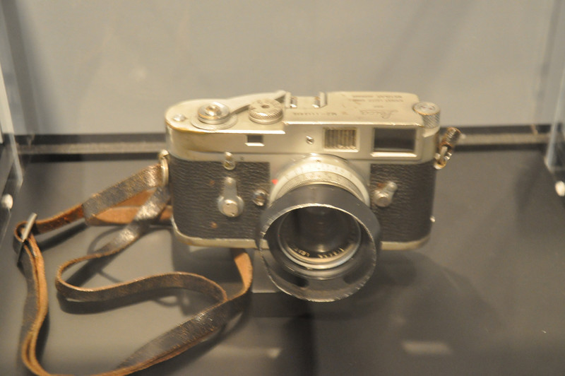 """From the Newseum. The camera which photographed the """"Napalm girl"""" picture."""