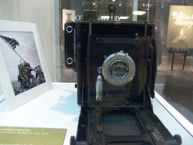 "From the Kodak Museum in Rochester, NY. Joe Rosenthall's camera used for the ""Iwo Jima"" photo"