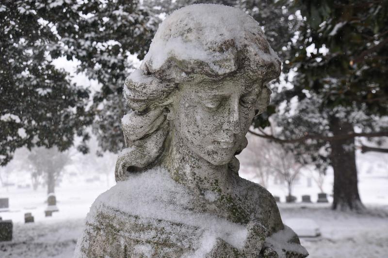 1800's statue, Elmwood Cemetery, Memphis