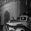 """Old Memphis fire station ! opened in 1910 when trucks were pulled by horses.Today it is the Fire Museum of Memphis. The harsh light and black and white gave the station an old """"Speed Graphic"""" look"""