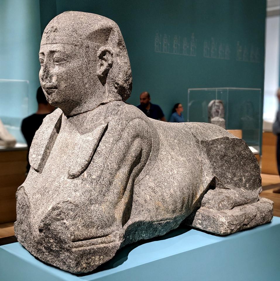 sphinx from the Sunken Cities exhibition