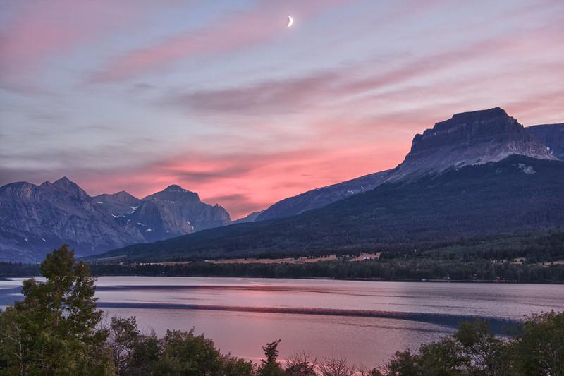 Lower Saint Mary Lake sunset