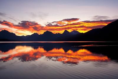 Lake McDonald sunrise 1