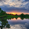 Chicago Botanic Gardens sunset 2