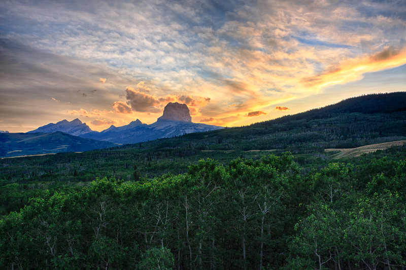 Chief Mountain sunset