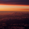 25 July 2014<br /> Aerial view of sunset: flight from Charlotte to Kansas City