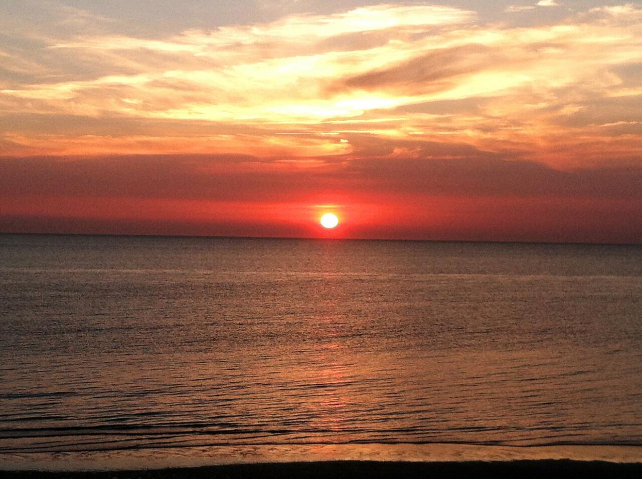 Sunset over the Delaware Bay, Villas, NJ