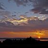 Sunset overlooking Digby, taken from Deep Brook, NS.