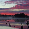 Pink sunrise, Grand Lake, Annapolis Co. NS