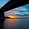 Sunset from under the Bear River bridges, Deep Brook NS.