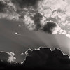 Clouds and sunrays B&W