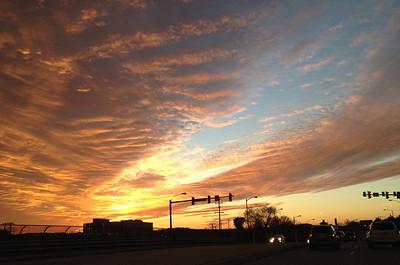 sunset - November 23, 2013