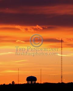 Sunset Over Waltham, Mass. - Vertical shot