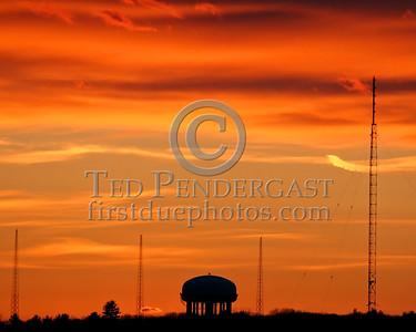 Sunset Over Waltham,Mass. - Wide shot