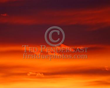 Sunset Over Waltham, Mass. - Close up