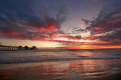 Huntington Beach Sunset February 13th