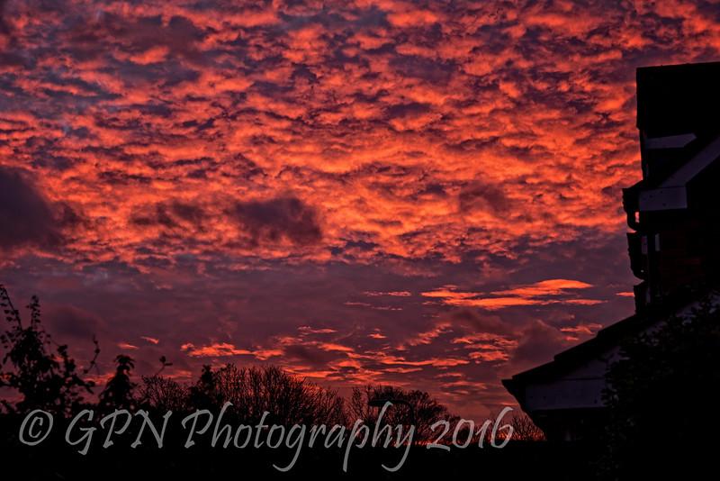 A winter's morning sunrise