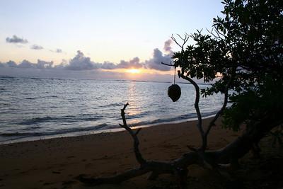 Sunrise on Beach Kauai, Hawaii