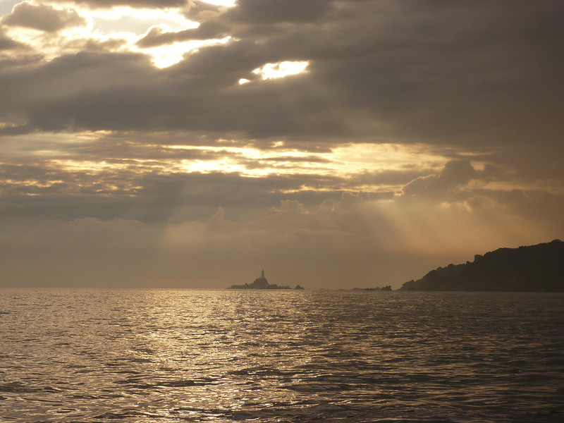 Taken during a fishing trip with some of the guys from where I work. <br /> From St. Helier we went towards Corbiere light house and back, having a bbq with the mackerel we caight on the way....mmmm.