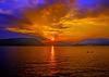 PEEKSKILL BAY SUNSET IN JULY.