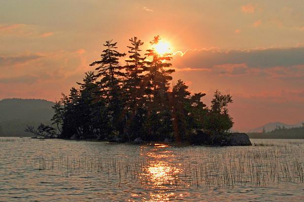 Sunsets taken in N.Y, & Adirondack Mts.
