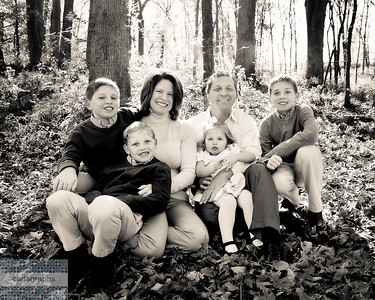 Fam in Leaves, warm bw 8x10 crop (1 of 1)