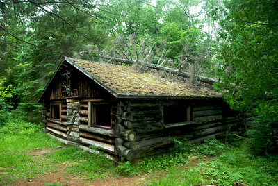 This old cabin was a surprise Godsend on Bear Island. After initially landing on the island Tuesday afternoon, the weather radio forecast thunderstorms for Wednesday. Thunderstorm it did, and we rode them out in this handy cabin.