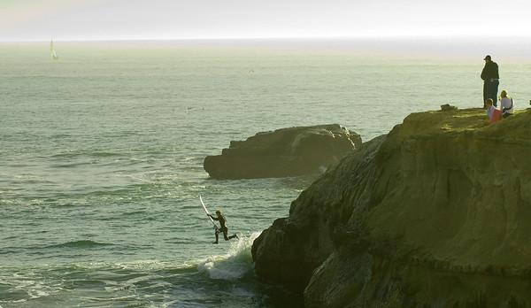 Surfing at Santa Cruz