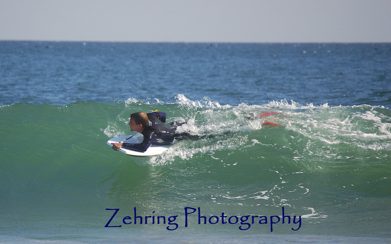 "A decent ride on a small but well formed wave, ""boogie boarding"" Avila Beach CA."