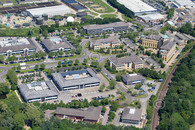 Aerial photo of Riverside Way in Camberley.