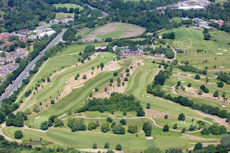 Aerial photo of Windlesham Golf Club.