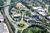 Aerial photo of Frimley Business Park.