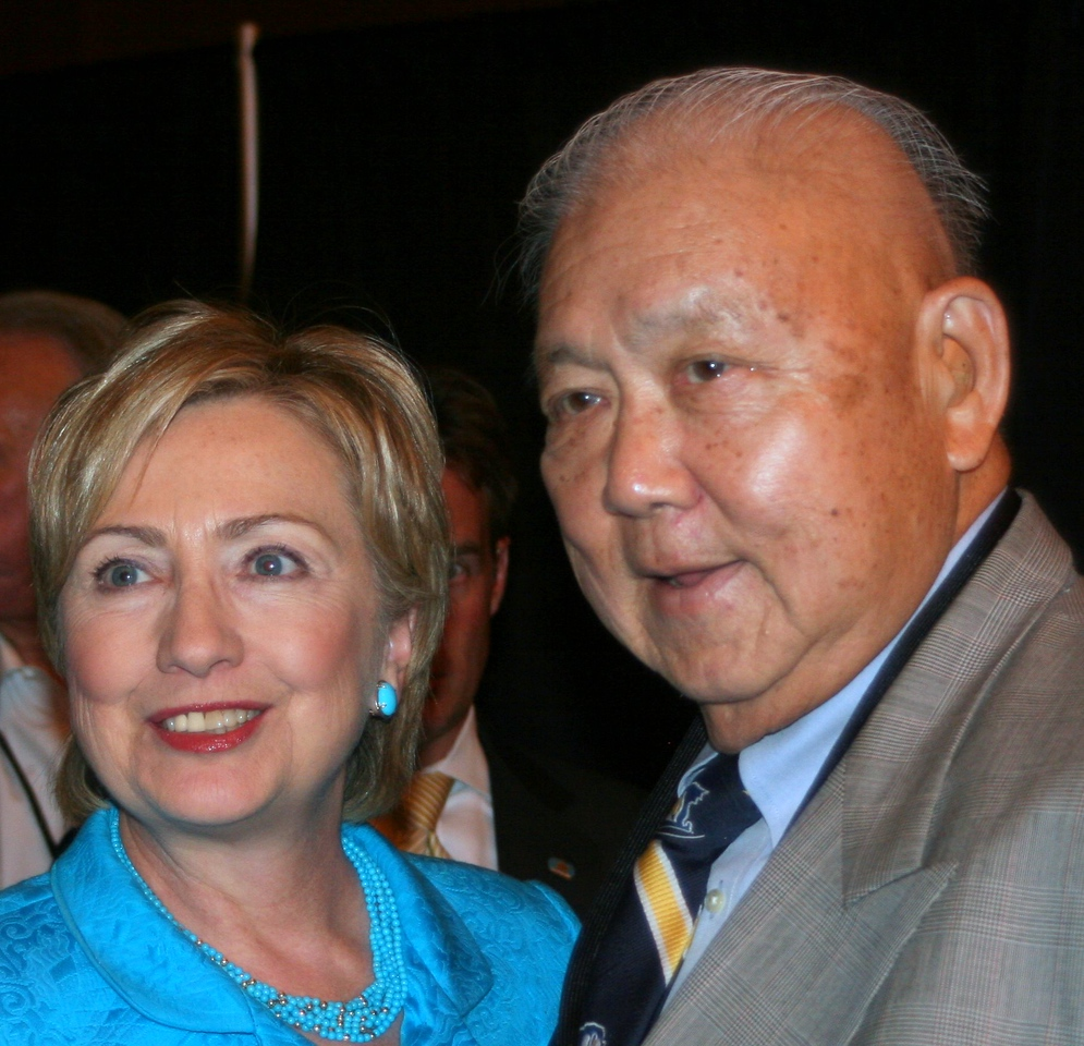 hilary clinton and sheriff harry lee (R.I.P Harry)