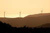 Wind Energy turbines in the sunset, from Karori, Wellington, New Zealand, December 2010. [Karori 2012-12 003 Wellington-NZ]