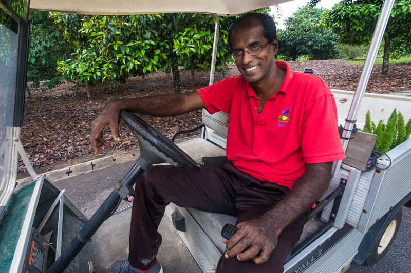 Elango Velautham, a director at the Singapore Botanic Gardens, and a strong advocate for leaving leaf litter where it should be. November 2014. [Singapore Botanic Gardens 2014-11 012 Singapore]
