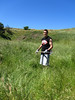 De La Salle student Brian Rosselli joined the Tuesday Group's mustard eradication effort for a morning of volunteering.