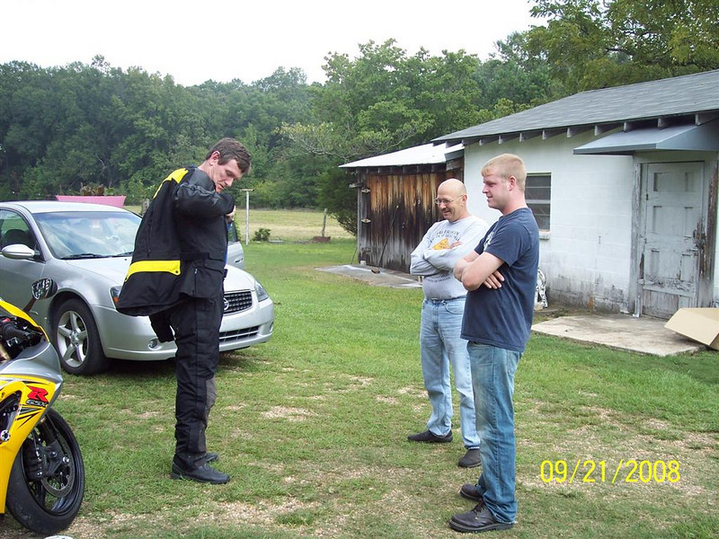 Me, Eddie (seller and friend) and John