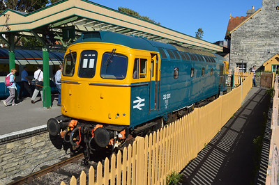 Class 33 33201 at Swanage Station  08/09/16.