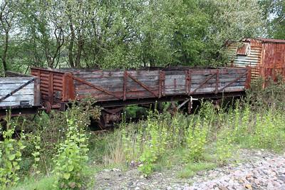 22t 5 Plank Tube Wagon B732234 at Eldon Sidings  10/05/14.