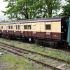 SR Gangwayed Luggage Van S2464 at Corfe Castle Sidings  10/05/14.